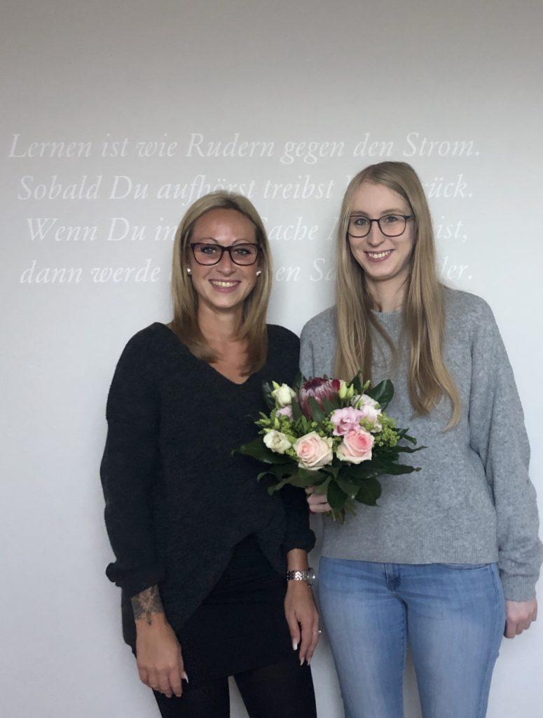 Neue Auszubildende bei der Gebäudereinigung Droske in Essen